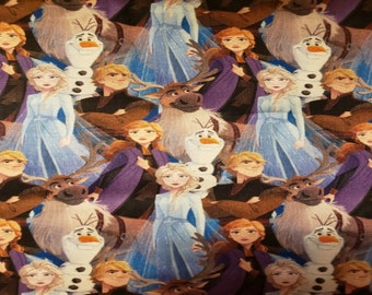 Handmade 100% Cotton Cloth Face Mask Reusable, Breathable Airborne Particle Protection - Olaf Elsa Anna Kristoff