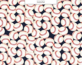 Breathable Fabric Face Mask | Made To Order | Custom Handcrafted | 100% Cotton with Stretch Ear Loops - Baseball