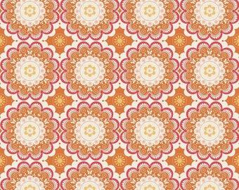 Made to Order - Handmade Medical Surgical Scrub Cap - Orange Kaleidoscope