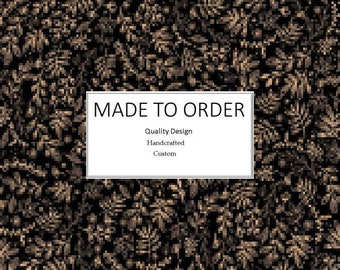 Black Leaf Vine - Scrub Cap, Handmade, 100% Cotton, Breathable, Traditional, Bouffant or Ponytail