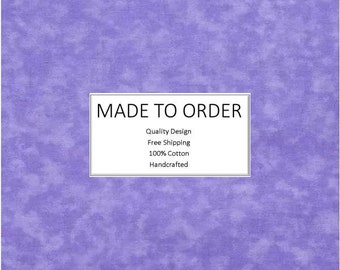 Scrub Cap & Face Mask Set, Handmade, 100% Cotton, Breathable, Unisex - Lavender Marble