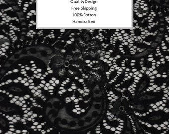 Breathable Fabric Face Mask | Made To Order | Custom Handcrafted | 100% Cotton with Stretch Ear Loops - Black Paisley