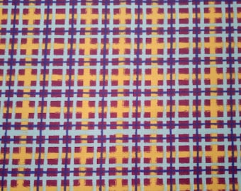 Made to Order - Handmade Medical Surgical Scrub Cap Traditional or Bouffant - Red Yellow White Plaid