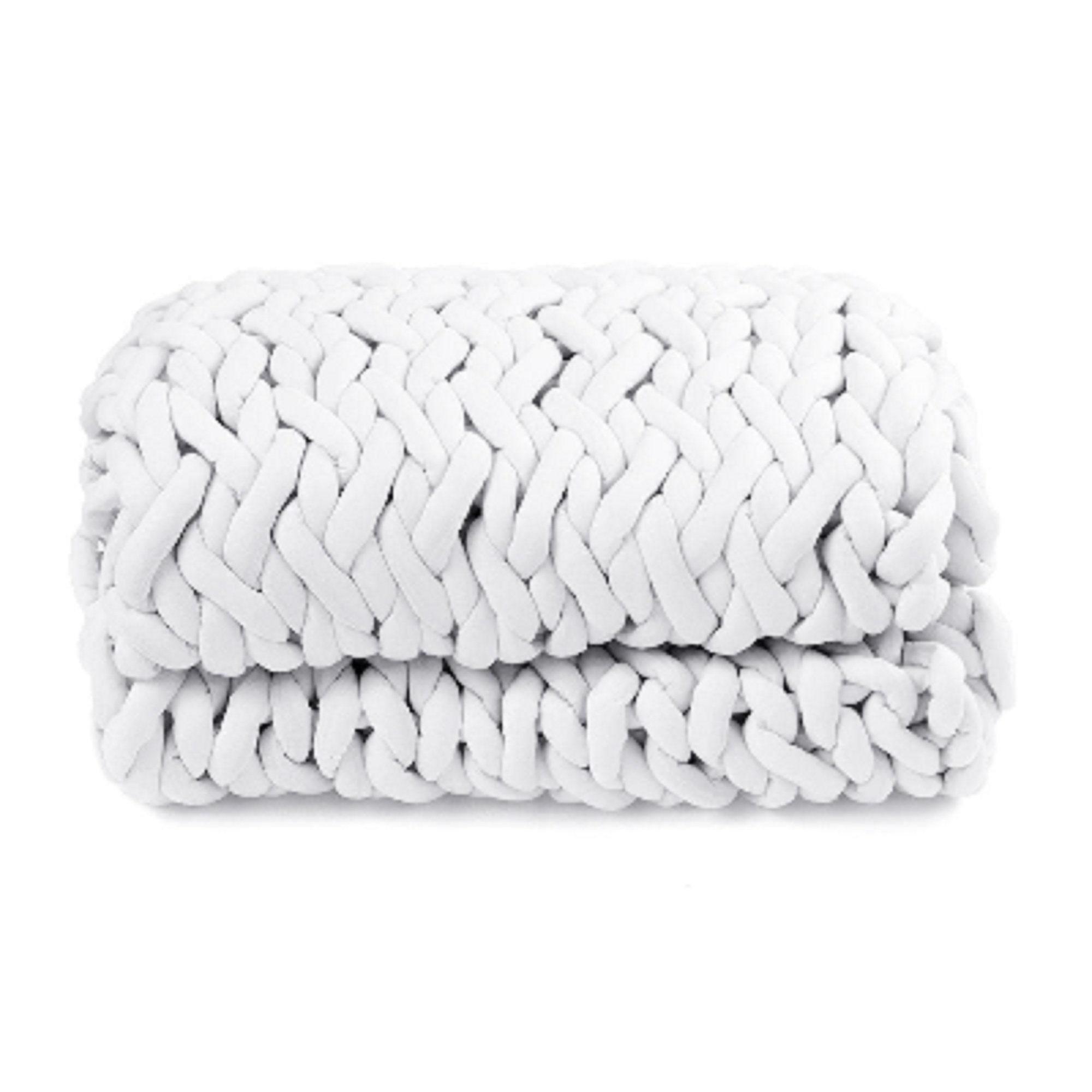 Couverture de couverture de sofa tricotée au crochet faite à la main - 60cm x 60cm