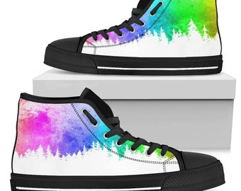 Shoes for Women High Quality Streetwear High Quality Shoes Boho Buterfly Handcrafted Sneakers for Women High Top Women Canvas Shoes