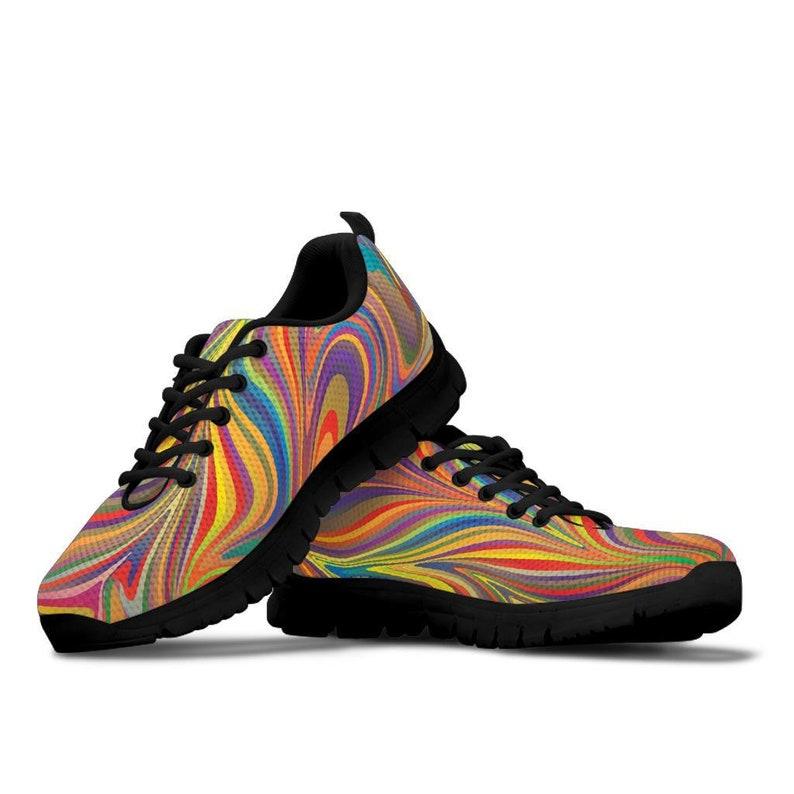 Casual Sneakers-Women/'s Shoes Running Shoes Candy Swirls Sneakers-Custom shoes Casual Shoes Running Sneakers Bohemian Hippie Shoes