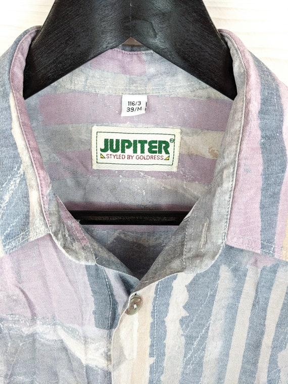 Vintage crazy pattern Navajo Aztec Shirt Shirt long Sleeves 80s 90s Size SMeter