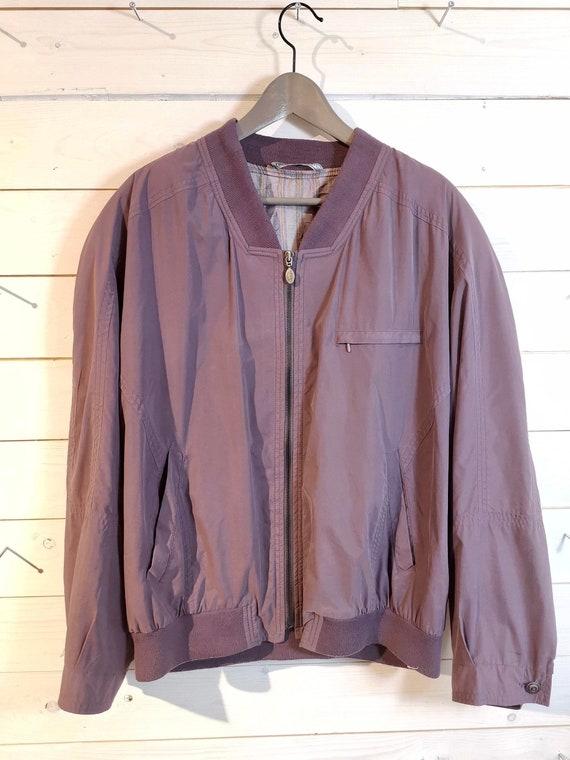 Vintage 90s 80s silk Jacket silk Blouson Bomberjac