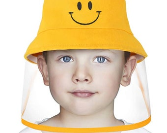 Anti-Dust Cap With Shiled Cartoon Removable Face Shield Hat Hat with Shield For Children Face Shield Hat Mickey Children Baseball Cap