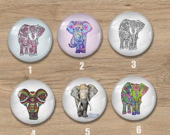Elephant,Handmade Photo Glass Cabochon,Round cabochons,Cabs Cabochons,Image Glass Cabochon,glass cabochons,Dome cabochons