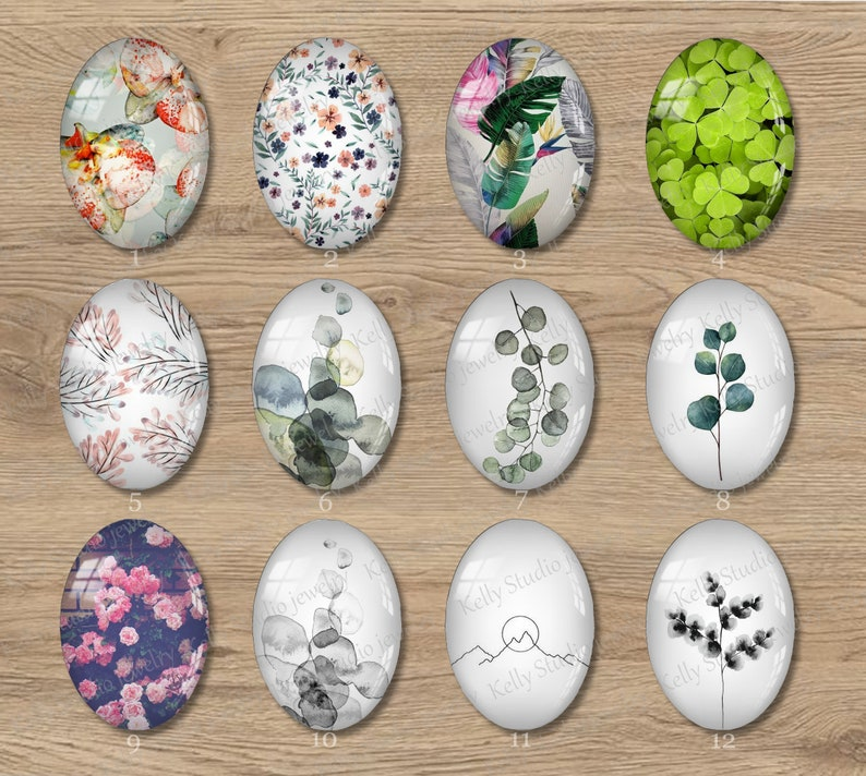 Handmade Photo oval Glass Cabs Cabochons 10x14mm 13x18mm 18x25mm Photo Glass Cabochon 700