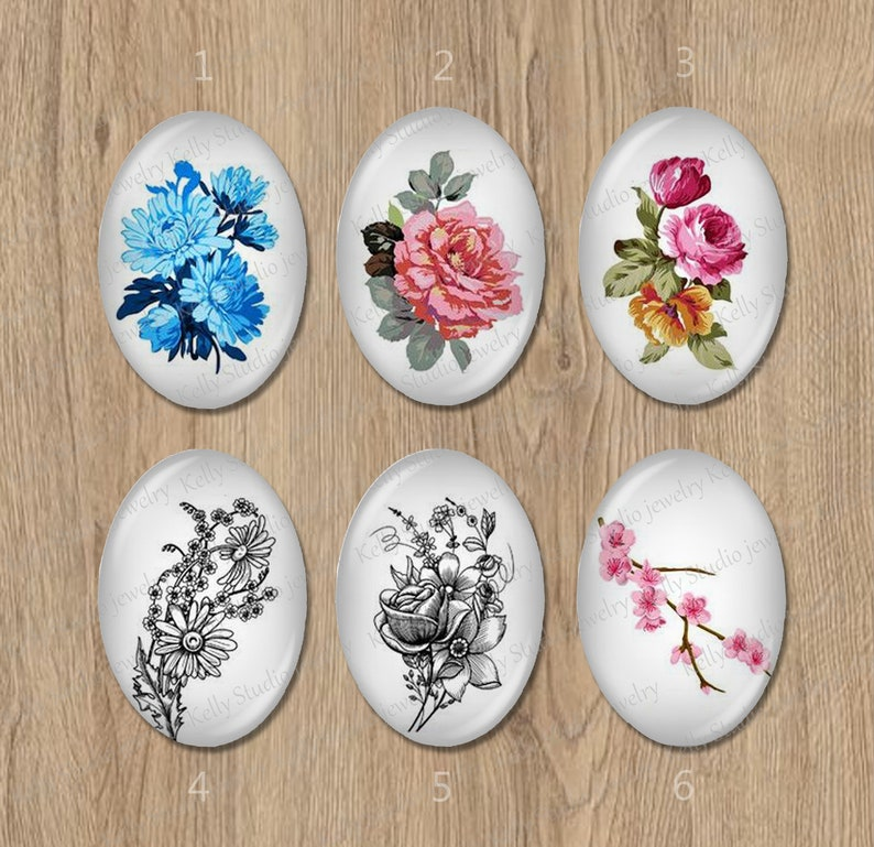 393 Handmade Photo oval Glass Cabs Cabochons 10x14mm 13x18mm 18x25mm Photo Glass Cabochon