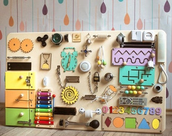 Big Busy Board,Busy board,Montessori busyboard,Toddler busyboard,Travel Busy Board 10 games in 1,Best busy board,Compact Montessori 15 games