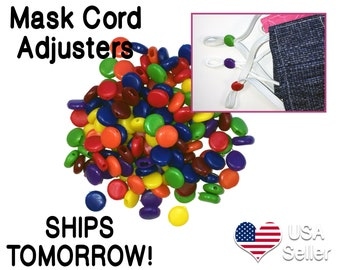 Mask Cord Silicone Adjuster Stopper For Elastic Or Ribbon 9mm Etsy