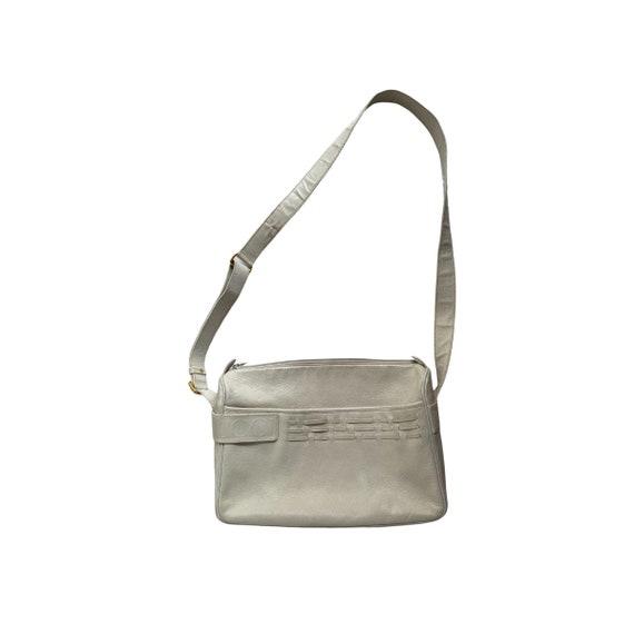 Gucci Retro GUCCI White Leather Handbag - image 1