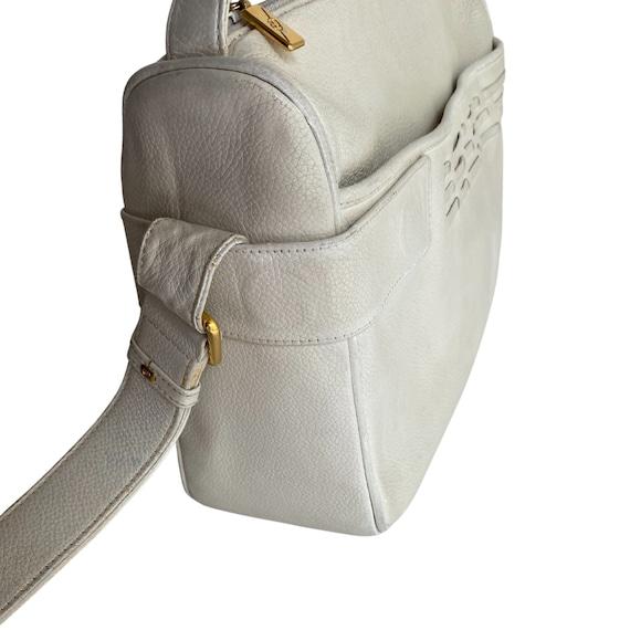 Gucci Retro GUCCI White Leather Handbag - image 5