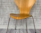 Series 7 3107 Chair, wood Arne Jacobsen Fritz Hansen