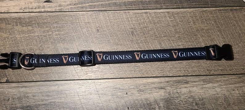Guinness Inspired Dog Collar