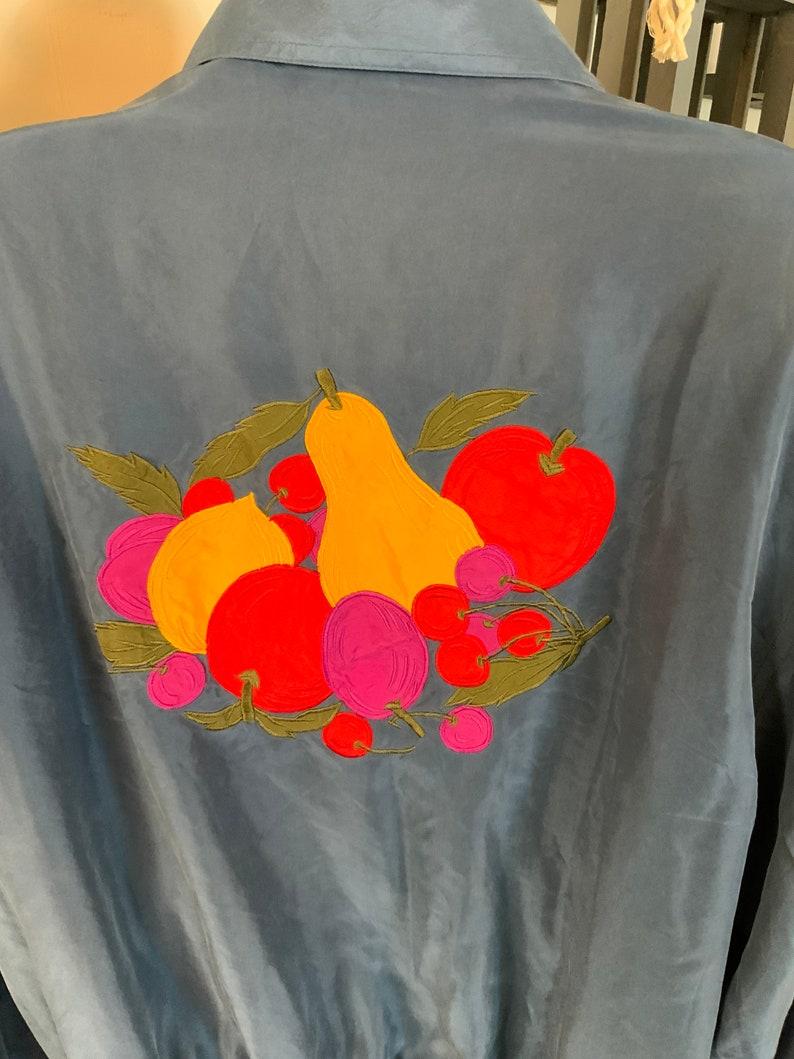 90\u2019s Light Weight Silk Blue Jacket