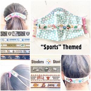 Princess Themed Choose Print Kids Ear Savers Ribbon Ear Savers with Snap Closure BUY 3 GET 1 FREE
