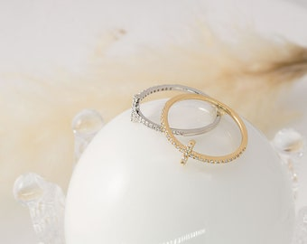 Thin ring collection RB20-01 Ring sets Stackable rings, Nickel free Dainty rings Handmade jewelry Brass