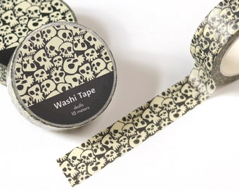 Halloween washi tape - Cute skulls washi tape - Cool planner tape - 15mm washi tape