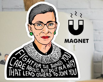 Ruth Bader Ginsburg magnet - Fridge Car flexible magnet - Notorious RBG magnet - Feminist Magnet
