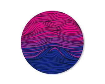 Subtle Bi Flag sticker - Bisexual pride circle sticker