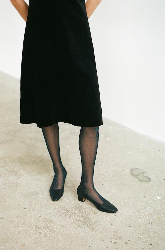 SALVATORE FERRAGAMO dark blue leather shoes Vintag