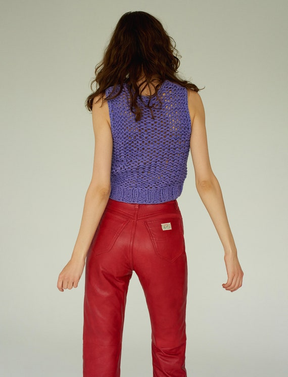 Red Rifle leather high waist pants 29 size
