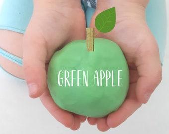 APPLE Playdough, Green Apple, Green Playdough, Unscented Playdough