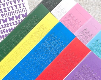 Classic 6mm Alphabet Letter Sticker Sheet | upper+lowercase & 123 | Decoration, Polco, Journaling, Planner Stickers, Bullet Journal | DD