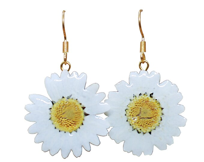 Featured listing image: Daisy Earrings in Sterling Silver / Gold Plated / Clip-Ons
