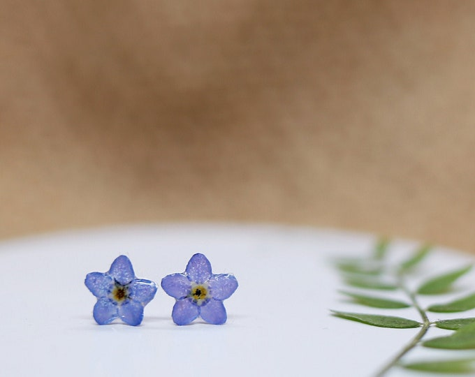 Featured listing image: Forget Me Not Studs in Sterling Silver
