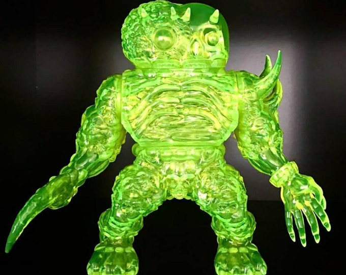 Featured listing image: Exhume sofubi clear flourescent green blank
