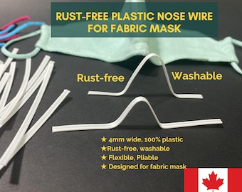 Wholesale Mask Nose Wire bulk,Plastic nose wire and plastic wrapped Nose Top, Nose Bridge, Bendable wire, washable mask nose bridge Canada