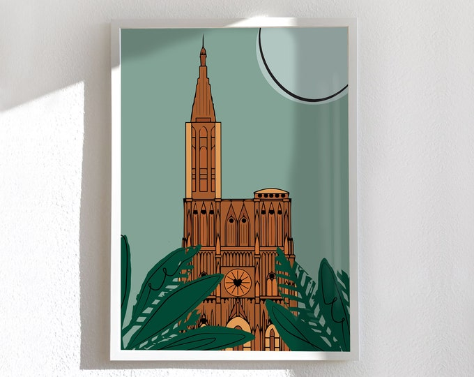 Map - medium and large poster, Strasbourg my love