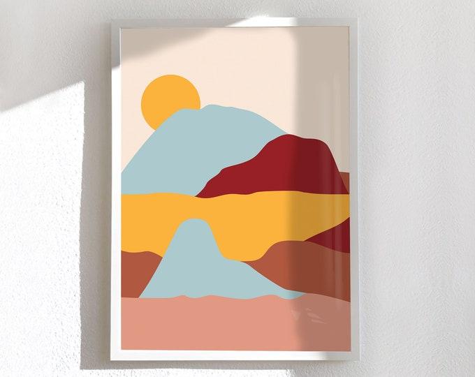 Medium and large poster, Dune-Soleil