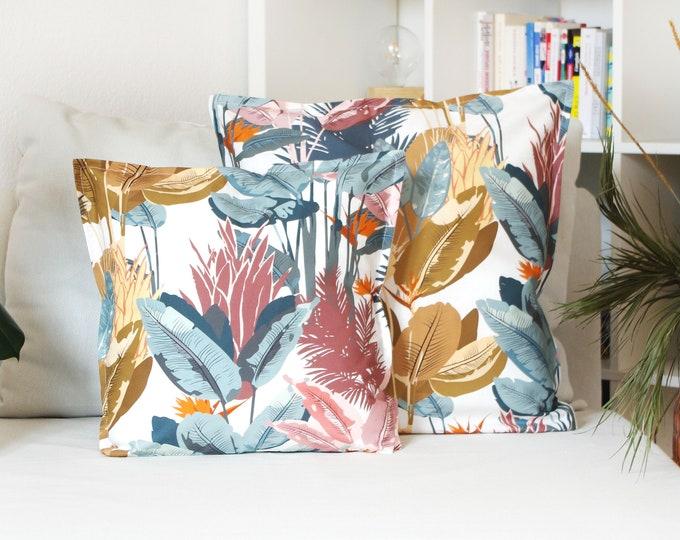 Cushion cover, Jungle INN, 100% Cotton, Made in France
