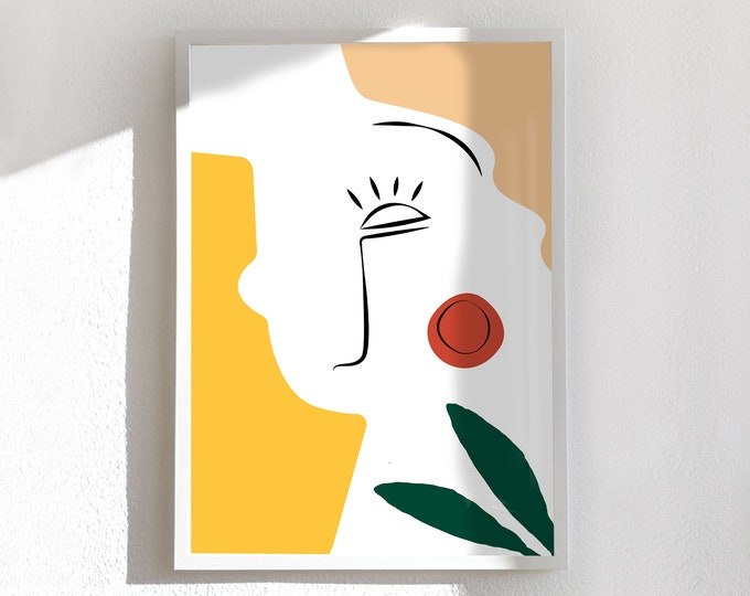 Medium and large card and poster, minimal, face 2