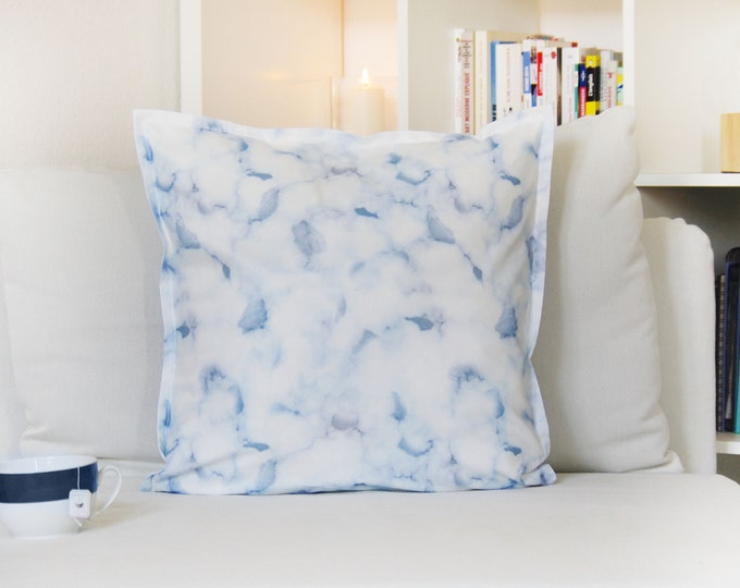 Cushion covers,Marble, 50x50cm, 100% Cotton, Made in France