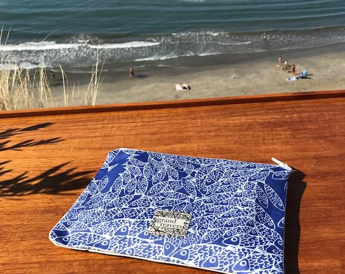 Pochette trousse zippée - tissu en coton - Made in France