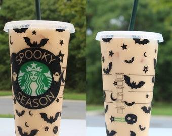 Halloween Starbucks Cup, Fall Starbucks Cup , Spooky Season Starbucks Cup , fall season cup, spooky Starbucks cup , halloween tumbler