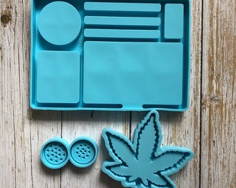 Sweets and treats mini resin rolling tray
