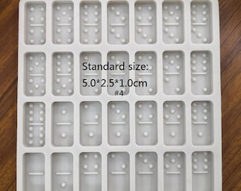 Professional Standard Domino Molds, Resin Mold Domino, Domino Mold Silicone Double 6 pcs, DIY Molds For Resin, Jumbo size Domino