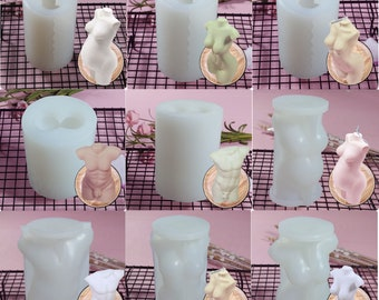 3D Candle Molds Female Male Pregnant Men Body Mold For Candle Wax Resin Soap Ass Mold Goddess Body Mold Figure Figurine Female Torso Molds