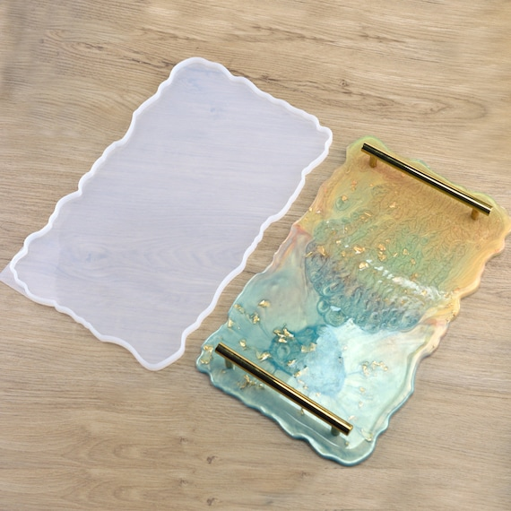 Large Square Storage Tray Resin Mold-Coaster Rolling Tray Mold-Square Silicone Plate Mold-Jewelry Box Mold-Desk Home Decoration Craft Mold