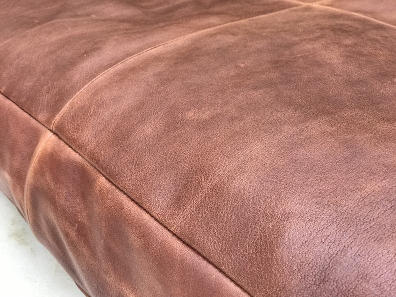 Customized Genuine Leather Seat Cushion Cover Rectangular Floor Cushion Cover Table Seat Pad Customized Leather Pet Bed Dining Cushion