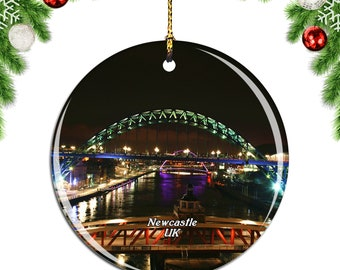 Newcastle England gift Manchester city ornament Liverpool ornament England Christmas ornament Brighton Christmas ornament London gifts