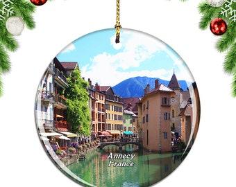 Annecy France Christmas Ornament Souvenir Gift Porcelain